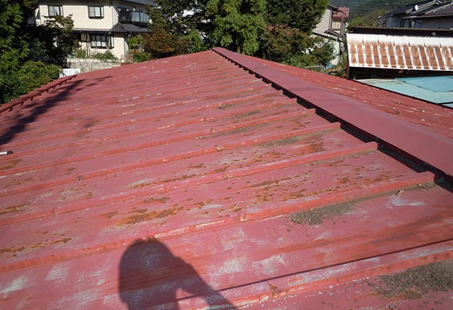 屋根塗装工事:施工前