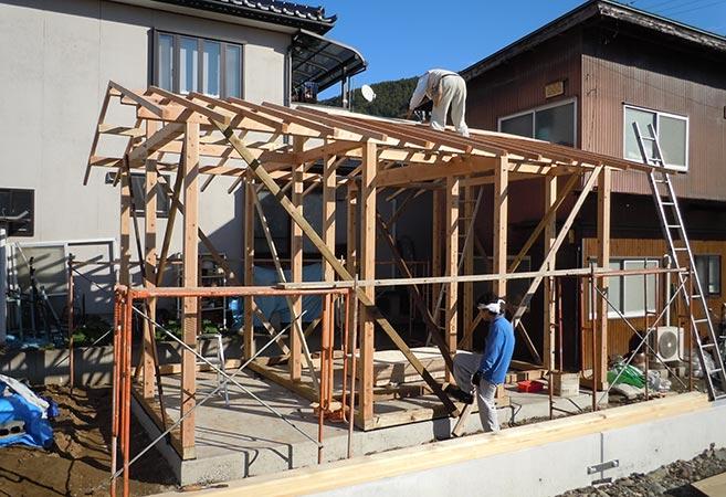 増築工事:施工中
